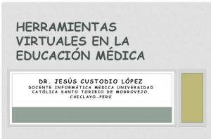 Herramientas Virtuales en Educación Médica